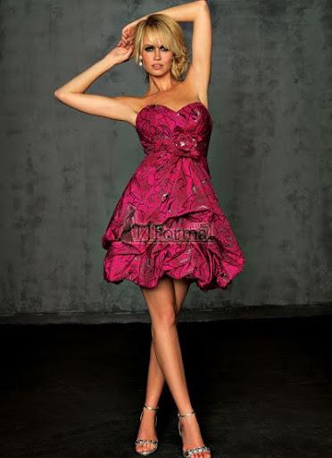 къса рокля с пола-балон