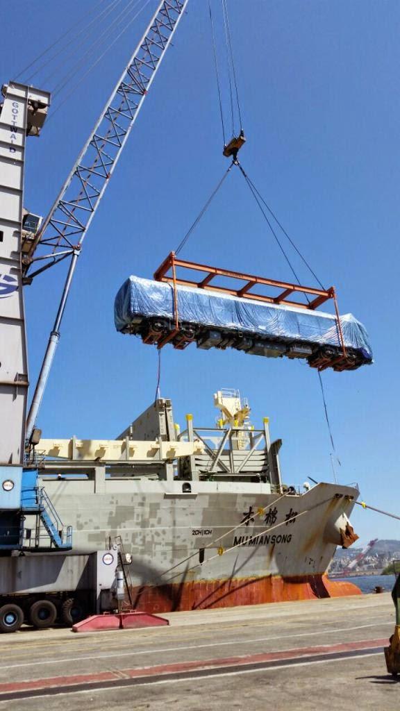 Mais quatro trens chineses desembarcam no Rio