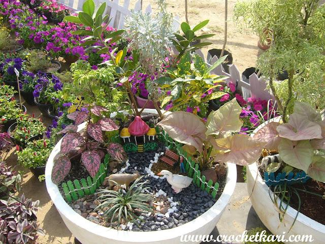 Ahmedabad flower show miniature garden