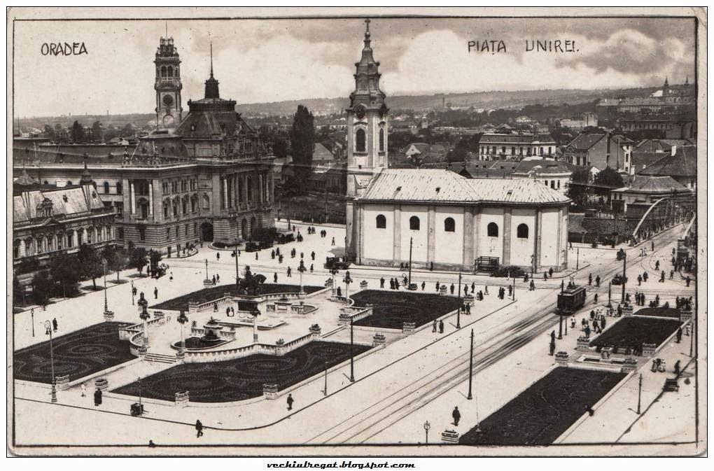 Piata Unirii din Oradea veche