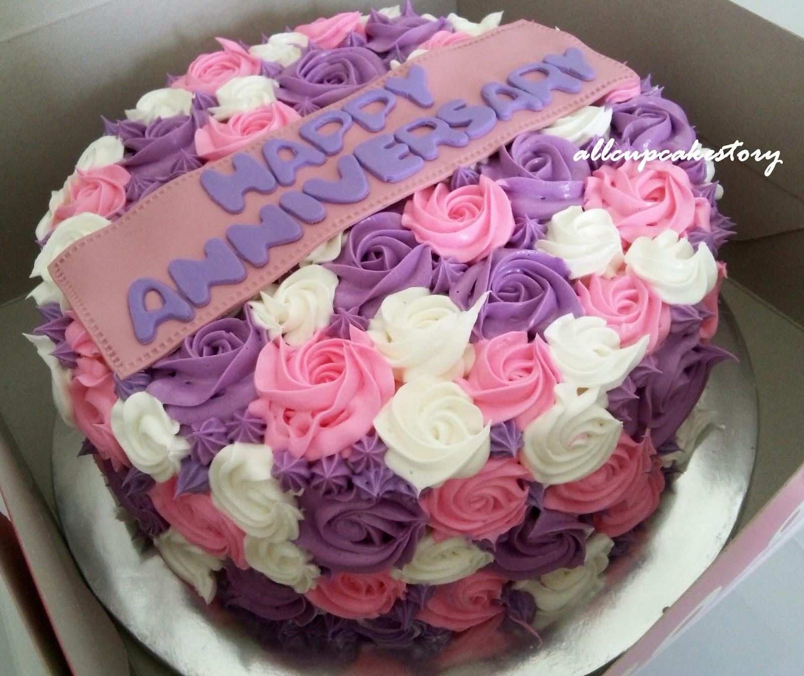 Rosette Cake Design : allcupcakestory: Rosette Anniversary Cake
