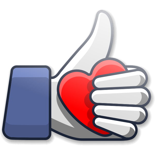 Thumbs Up Love Icon