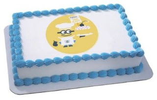 cute despicable me 2 birthday cake image