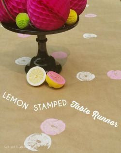 Lemon Stamped Runner