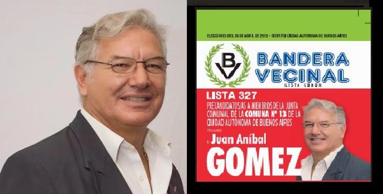 1° CANDIDATO A LA JUNTA COMUNA 13 PARTIDO BANDERA VECINAL LISTA 327