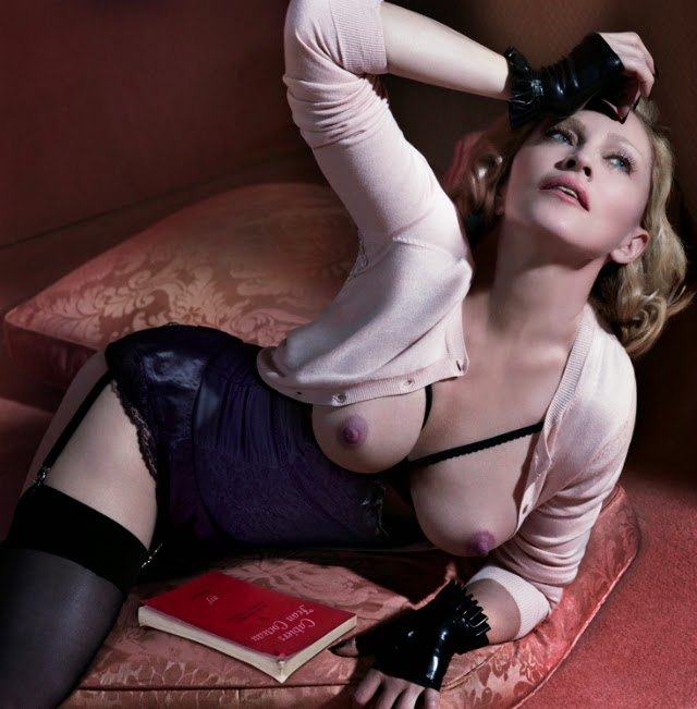 Madonna para que la recordemos en topless+Interview Magazine