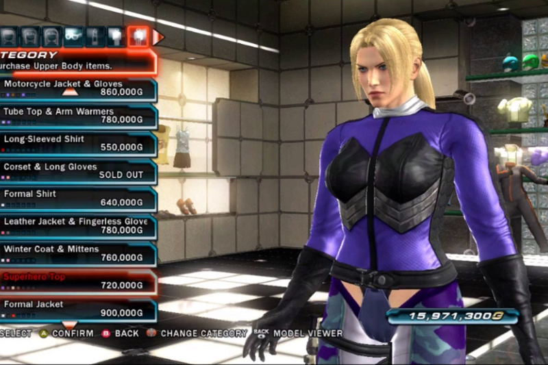 Costume Character Customization Tekken