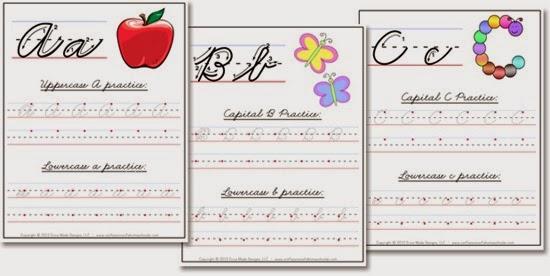Handwriting Sheets Cursive