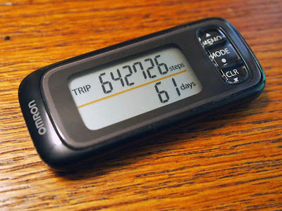 Pedometer Still stepping: 10,000 steps a day