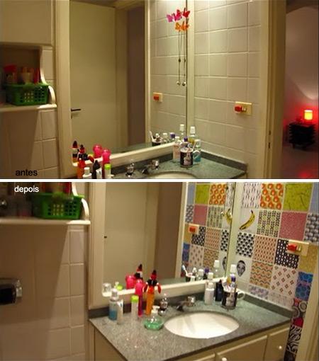 Adesivo vin lico no banheiro c h e s l l e r for Revestimientos vinilicos para azulejos