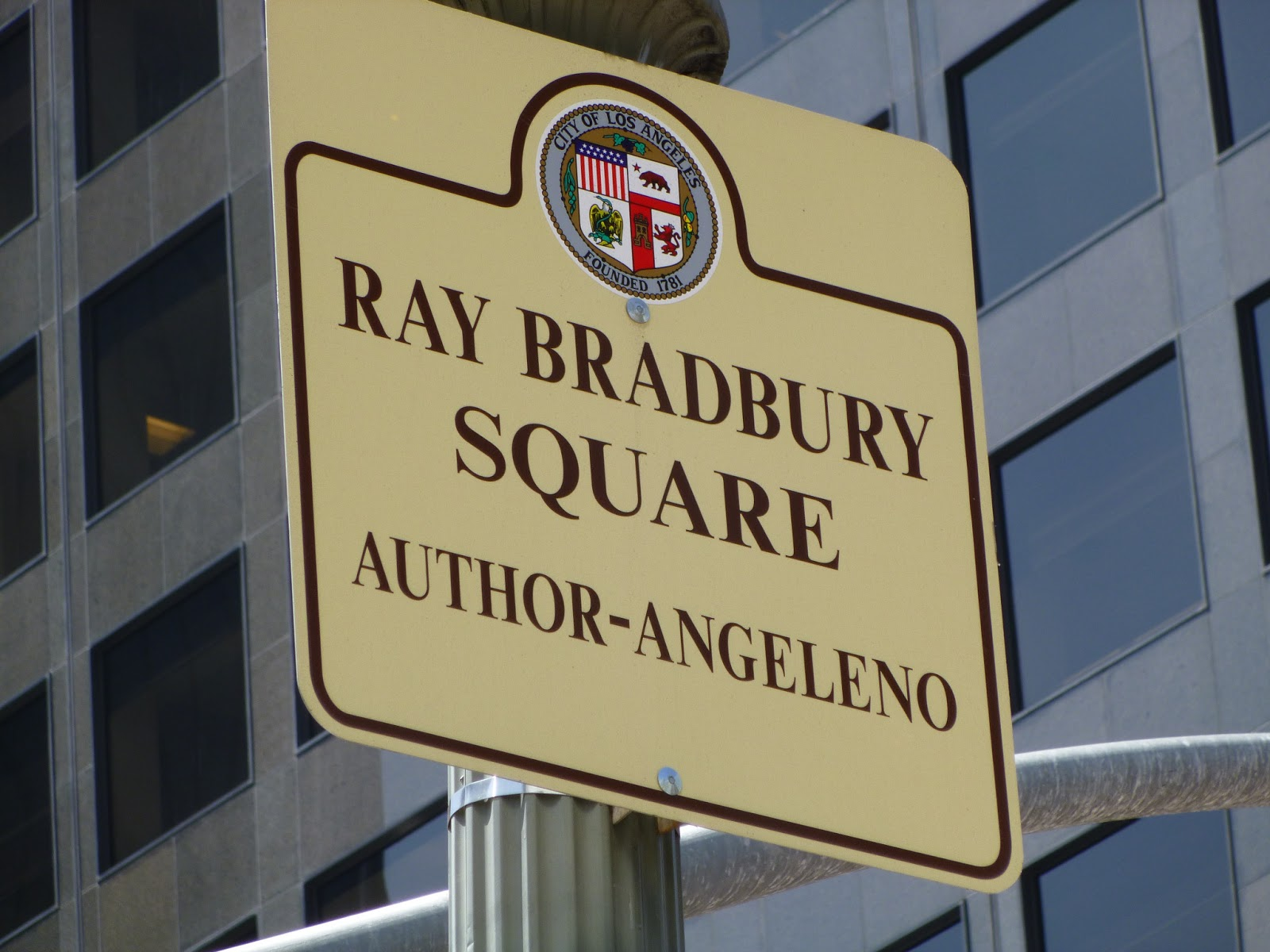 phil nichols bradburymedia 2013 signage at ray bradbury square los angeles