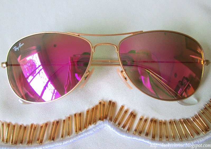 Ray Ban Pink Flash Lenses