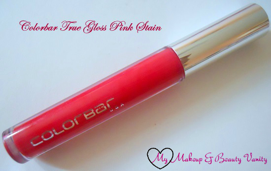 Colorbar True Gloss in Pink Stain review+colorbar true glosses+colorbar