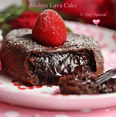 Molten Lava Cake | Valentines Day Special Dessert ~ Sankeerthanam ...