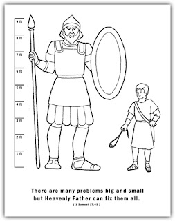 A Year Of Fhe 2011 Week 19 David And Goliath David And Goliath Coloring Page