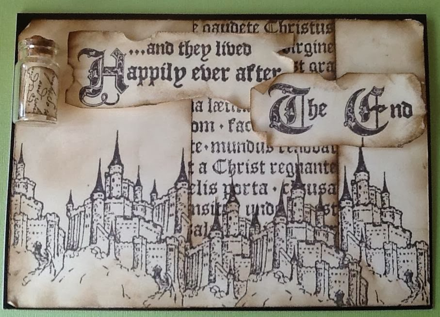 visible image stamps castle happily ever after