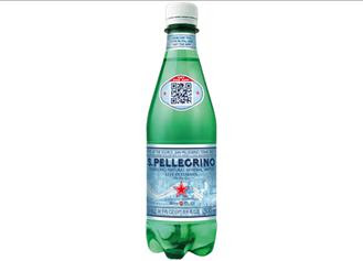 San Pellegrino uses QR Codes on Packaging