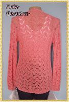 casaco em  tricô feito com fio anne agulha para trico  nº 03 ponto ajur