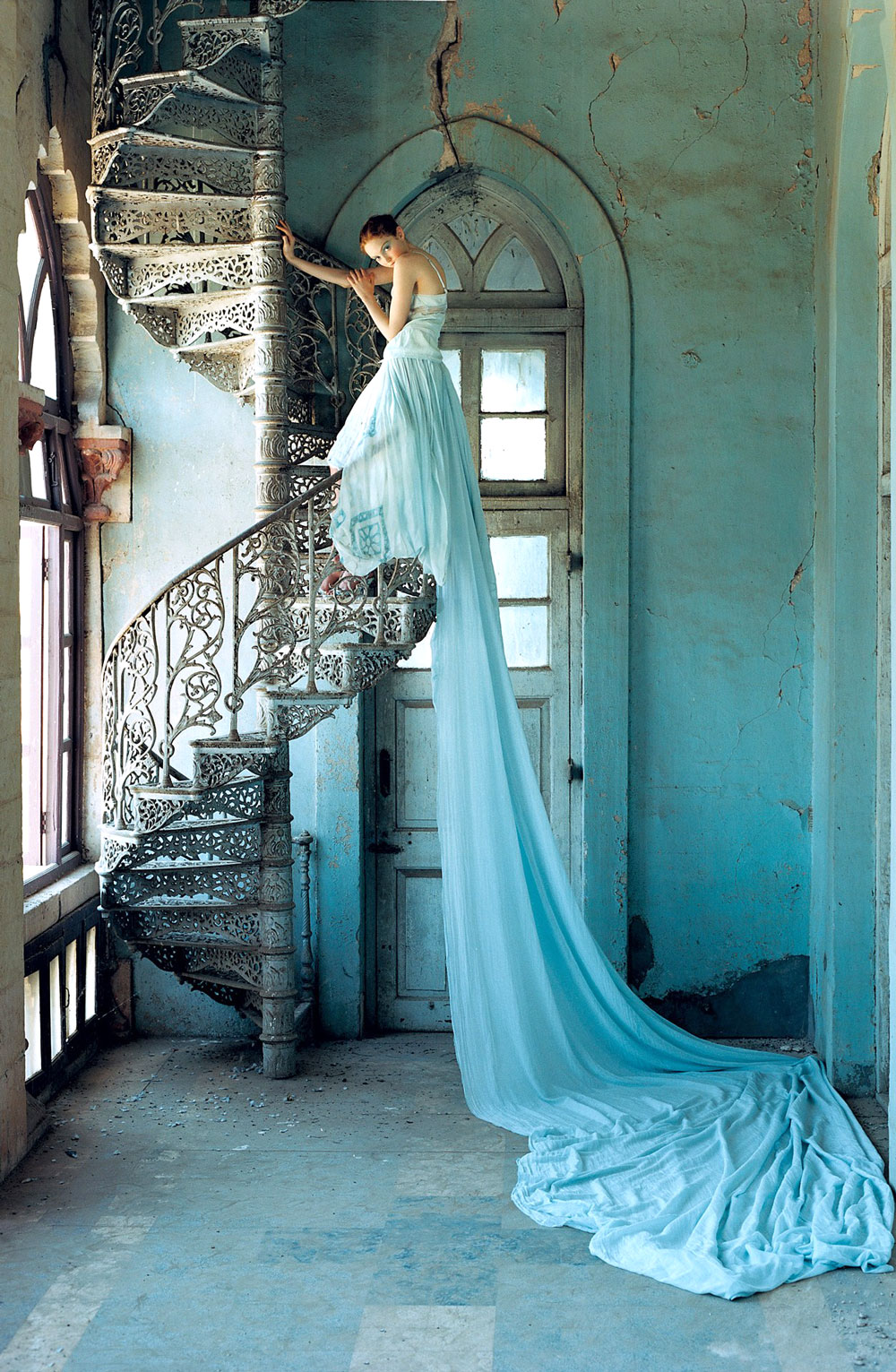 Lily Cole wearing Stella McCartney RTW Spring/Summer 2005 in Vogue UK July 2005 (photography: Tim Walker)