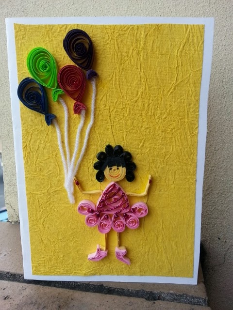 Life S Little Treasures Quilled Birthday Girl Card