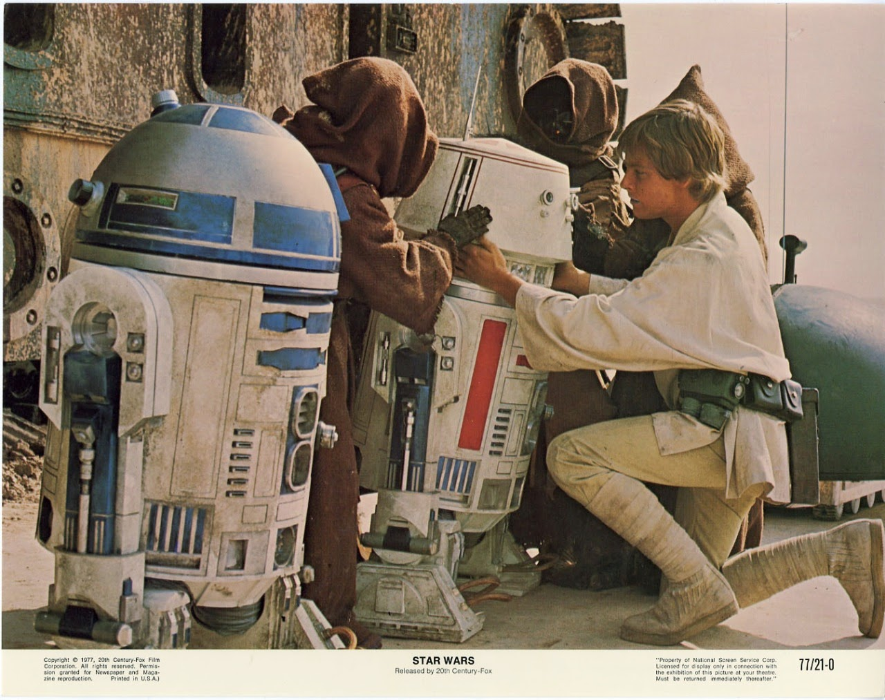 Beautiful Original Star Wars Lobby Card Set From 1977