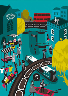 Camden Lock by Postcode Prints