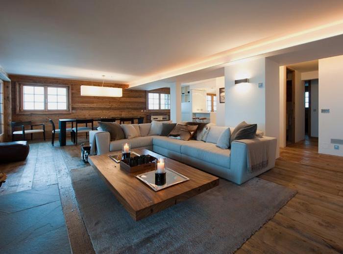 Estilo rustico estilo rustico y moderno en suiza for Muebles estilo moderno minimalista