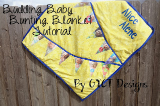Budding Baby Bunting Blanket by GYCT Designs