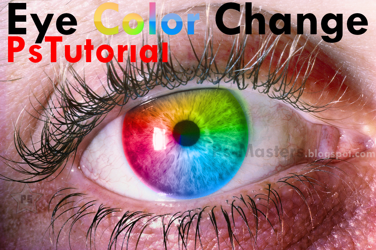 Ps masters photoshop tutorial how to change eyes colorawesome hi deisgners today we brought to you how to change the eyess color in the old boring way if someone dont know how yet baditri Choice Image