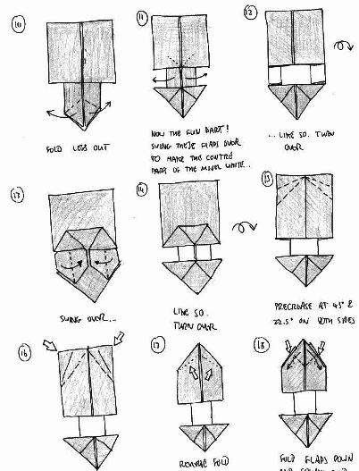 Origami Instructions Panda 3D