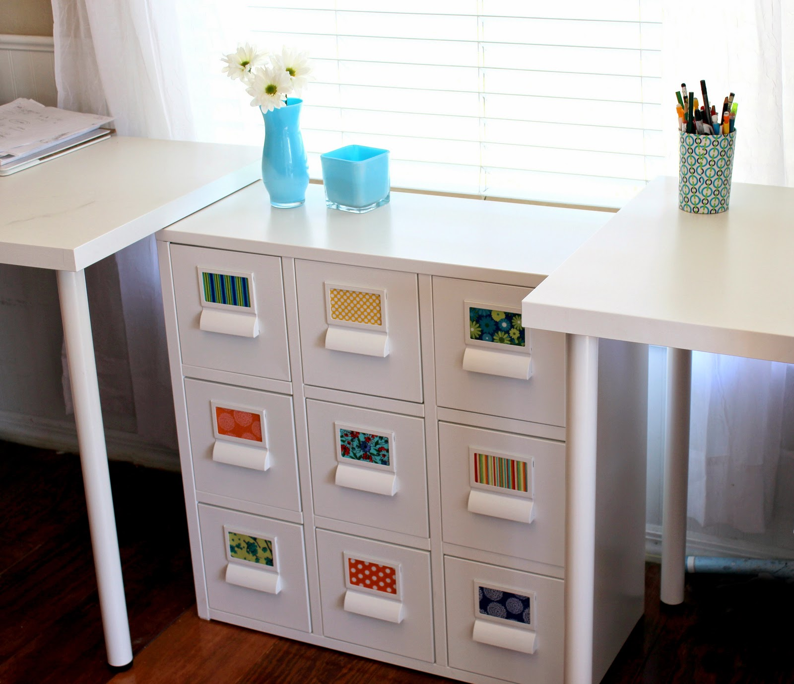Ikea strutt white drawer cabinet hack