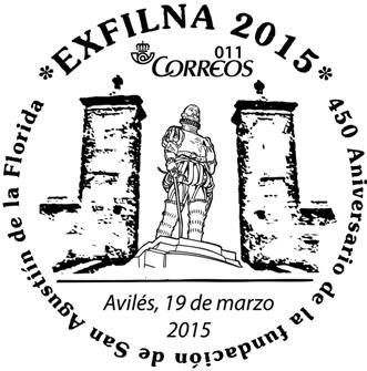 Matasellos del 450 aniversario de San Agustín de la Florida, Avilés