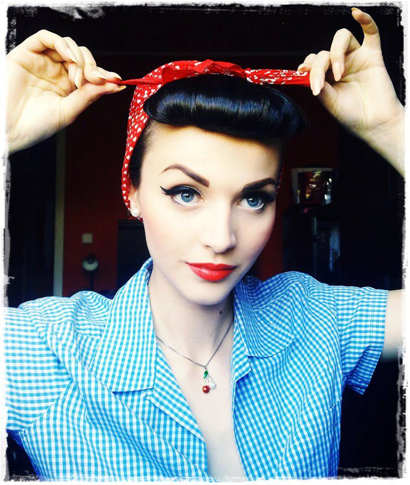 Oh the pin-up hair is the most intricate part of this whole look! I'm ...