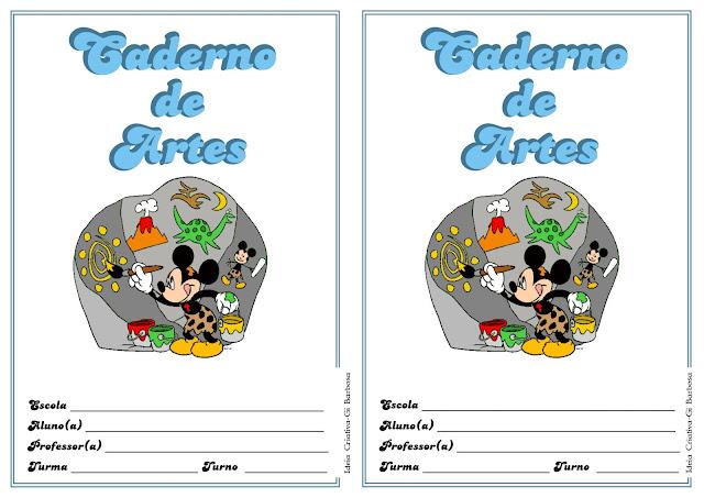 Capa Caderno de Artes da Minnie e Mickey