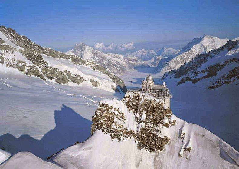 Breathtaking Sphinx Observatory at Swiss Alps