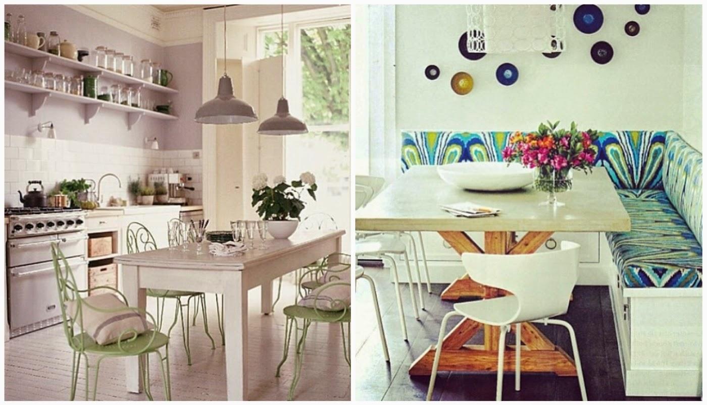 cozinha @interioresdesigndecoracao e mesa de jantar @decorismoblog