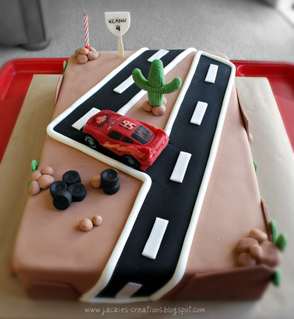 Jackies Creations Cars birthday cake for Keanu