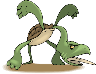 Scary Turtle Free Fantasy Clipart