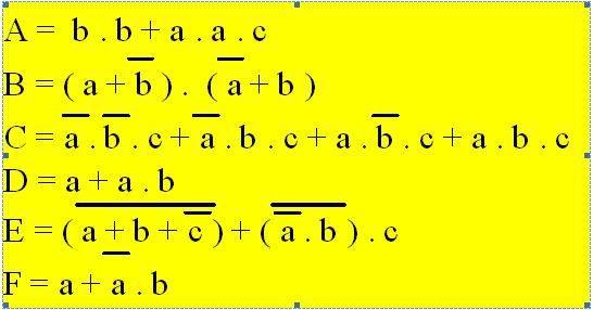 Syst mes logiques et num riques l alg bre de boole for Fonction combinatoire