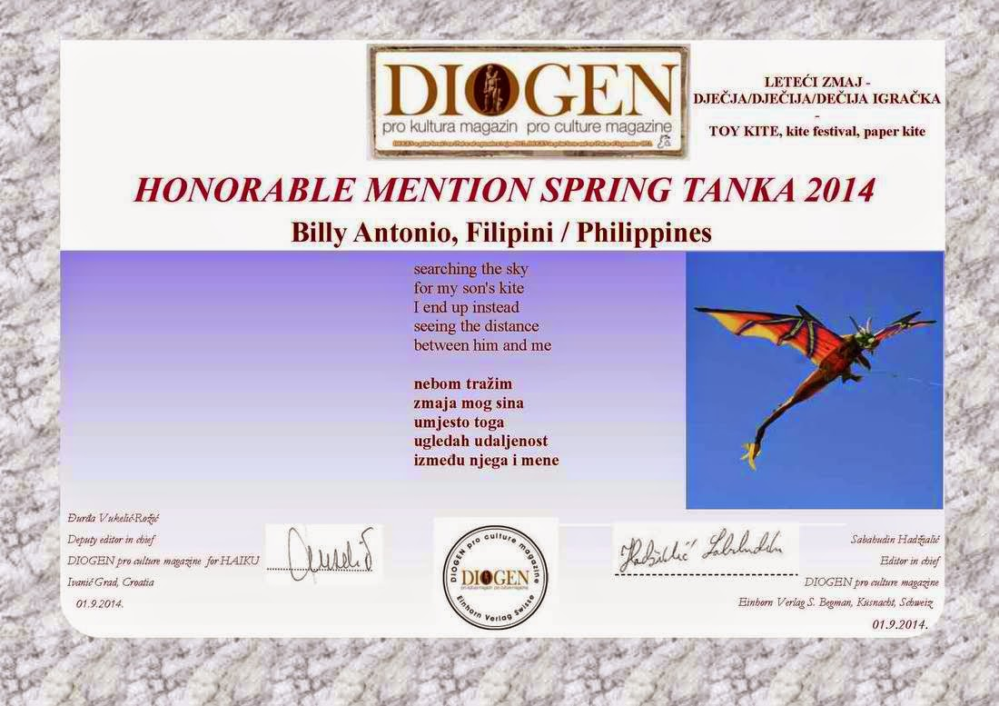 Honorable Mention Spring Tanka 2014