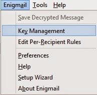 Enigmail - zarządzanie kluczami