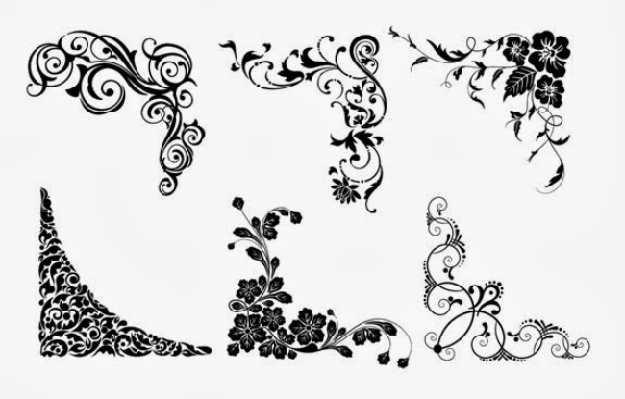 Free Vector Floral Corners