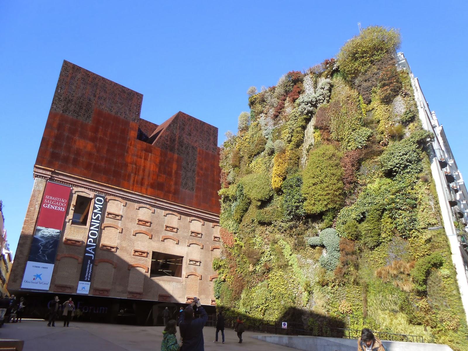 Madrid giardino verticale del caixa forum patrick blanc - Giardino verticale madrid ...