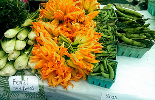 Squash and zucchini flowers are a common sight in African kitchens.