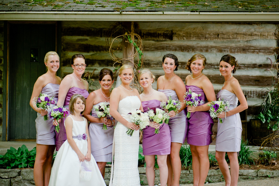 Purple Rustic Tennessee Wedding Mixed Your Bridesmaid Dresses