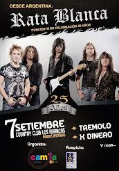 """RATA BLANCA EN EL """"COUNTRY CLUB LOS HUANCAS"""" (PERÚ) - 07/09/2014"""