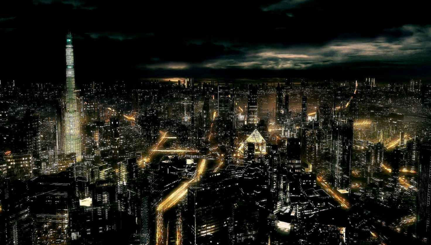 Dark city Hd picture and Hd wallpaper on Pinterest