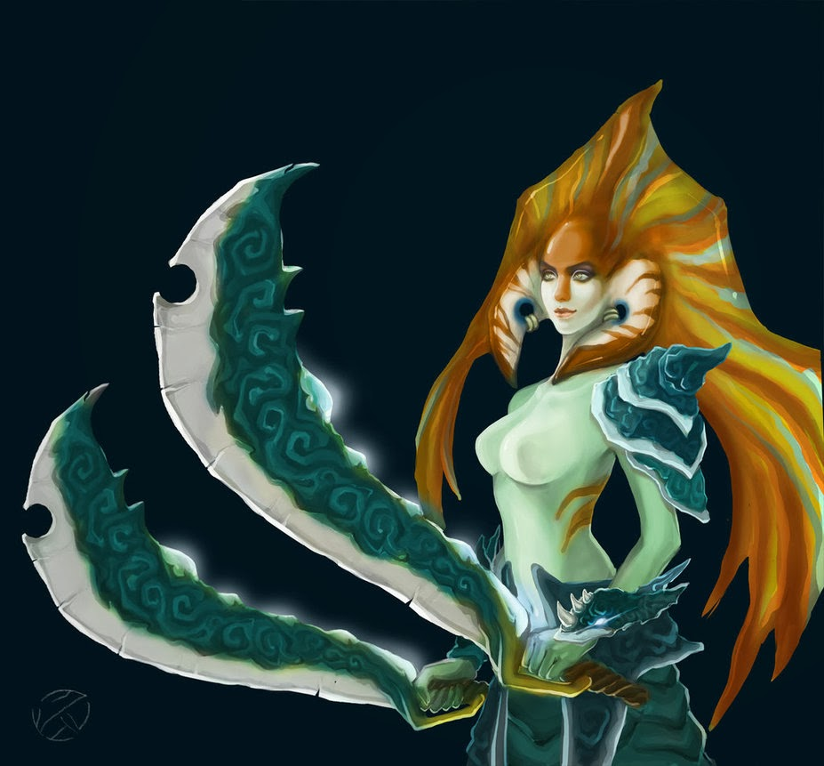 Dota 2 Wallpapers Dota 2 Art Naga Siren By