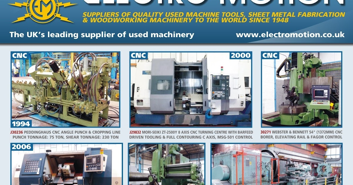 Electro Motion Used Machinery Suppliers: Any Machines of Interest?