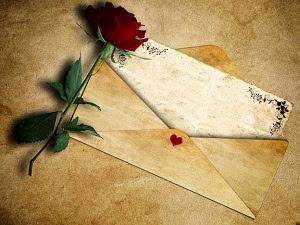 Belle lettre d'amour pour une fille